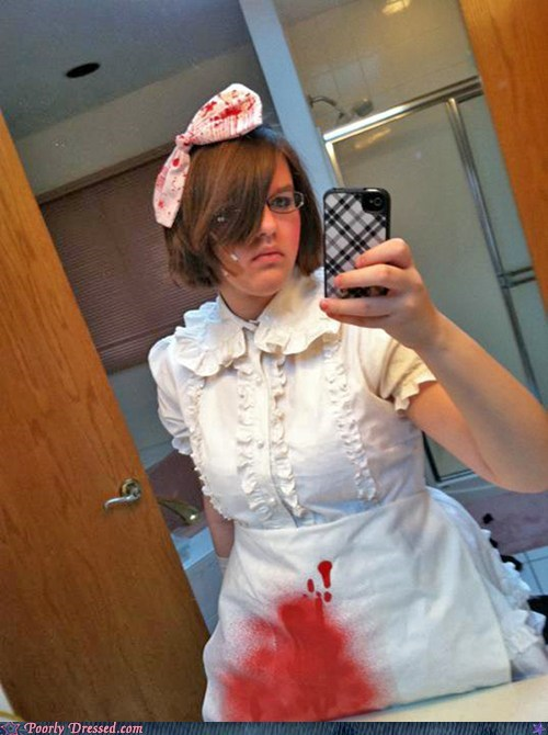 apron,Blood,cosplay,lolita,period