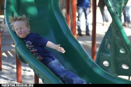 going to the park punched in the face rocket launcher slides - 5800455168