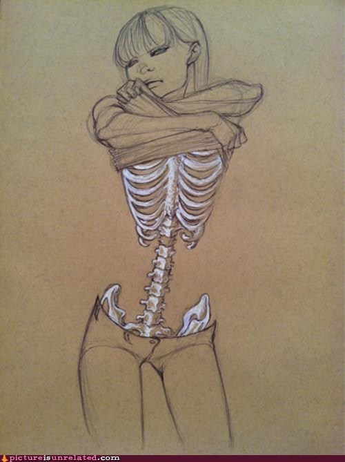 best of week girl skeleton skinny wtf