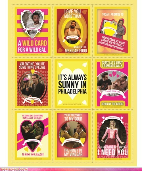 funny holiday its-always-sunny TV Valentines day - 5800582912