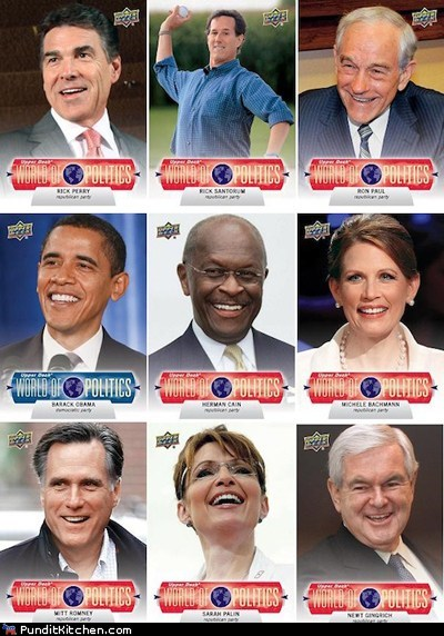 barack obama democrats newt gingrich political pictures Republicans Sarah Palin trading cards - 5800587520