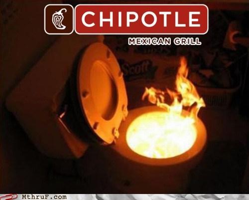 Ad Campaign burrito chipotle diarrhea fire poops toilet - 5800687616