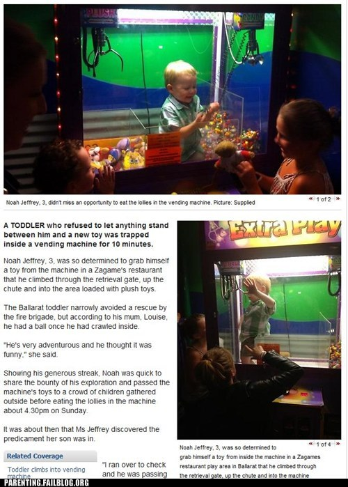 dumbest kid g rated Parenting FAILS passing out toys smartest kid trapped in vending machin trapped in vending machine