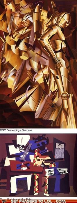 art c3p0 picasso star wars - 5800887552