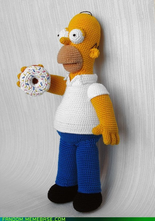 Fan Art,homer,knit,the simpsons