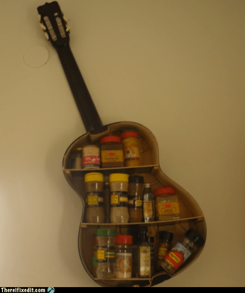 cooking,guitar,neat,spice rack