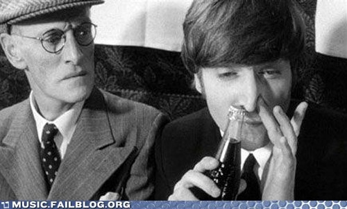 coca cola coke drugs john lennon lennon the Beatles