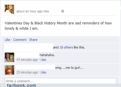 Black History Month,forever alone,Valentines day