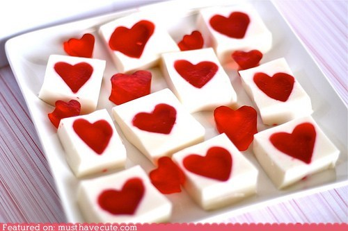 epicute,hearts,Jello,jiggly,snack,sweets,Valentines day