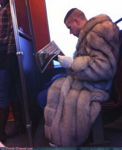 coat,cruella deville,fur,lots and lots of fur,poorly dressed