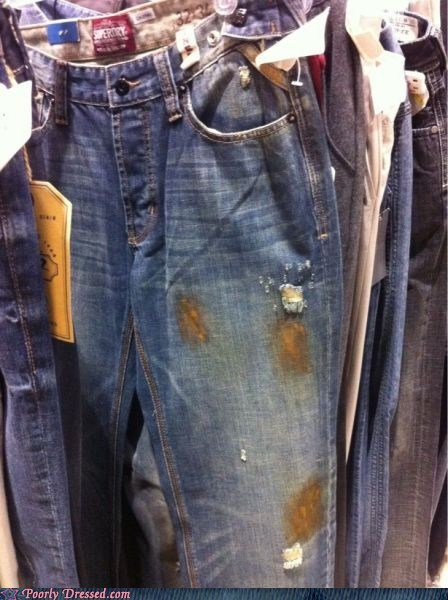 denim jeans poo stains stain - 5801247232