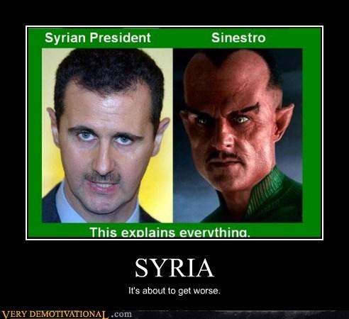 Green lantern,hilarious,president,sinestro,syria