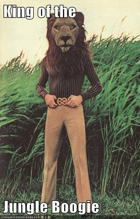 1970s,disco,historic lols,jungle boogie,king of the jungle,lion,lion mask,vintage,wat,wut