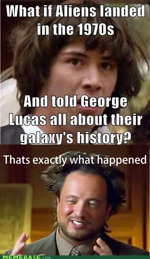 Aliens,ancient aliens,george lucas,star wars