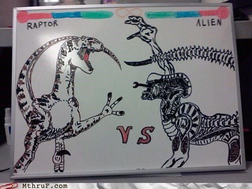 alien,clever girl,movies,Raptor,who would win