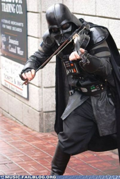 darth vader,star wars,street,street musician,violin