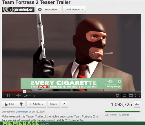 cigarettes smoking kills TF2 youtube - 5801721088