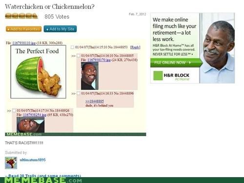 ads chicken Memes racism watermelon - 5801744128