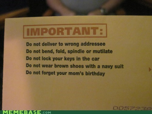 IRL mail mom reminders