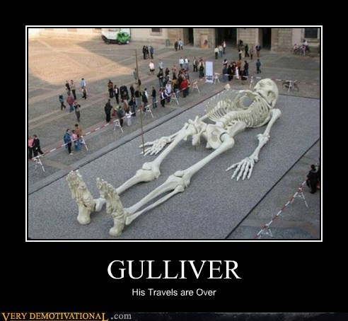 gulliver hilarious skeleton travels wtf