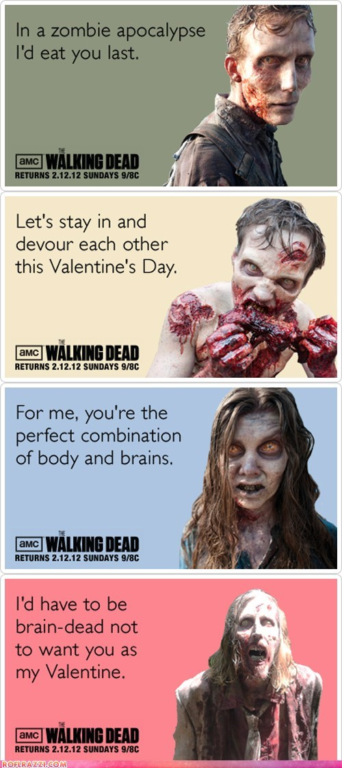 holiday TV Valentines day The Walking Dead zombie - 5801998592
