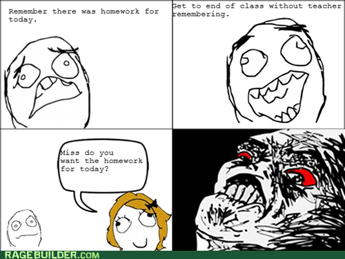 best of week,homework,Rage Comics,raisin rage,truancy story