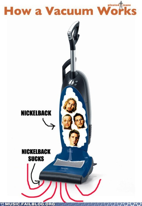 Hall of Fame nickleback sucks vacuum vacuum cleaner - 5802153984