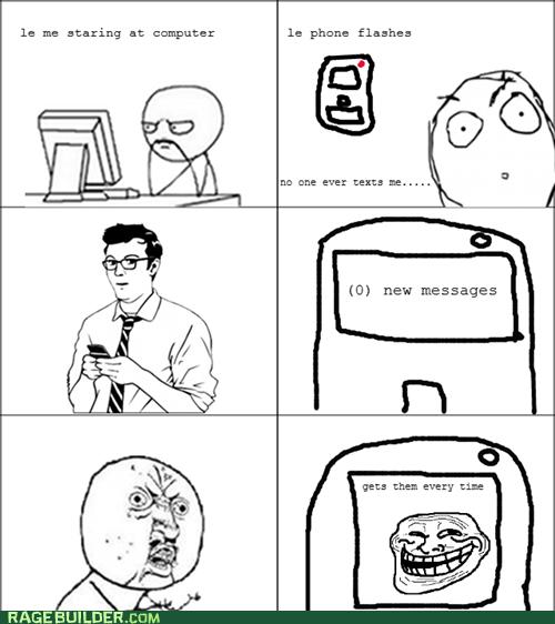 cell phone Rage Comics troll Y U No Guy - 5802420224