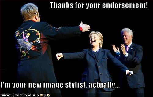 bill clinton clinton democrats elton john First Lady Hillary Clinton president - 580260096