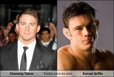 actor,celeb,channing tatum,forrest griffin,funny,TLL