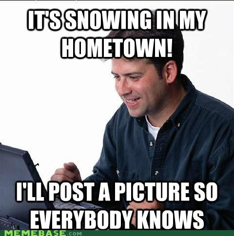 facebook hometown Net Noob snow