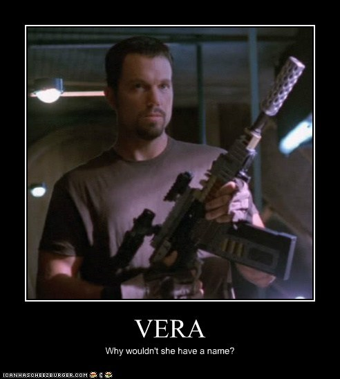 adam baldwin,Firefly,gun,jayne cobb,name,vera,Why Not