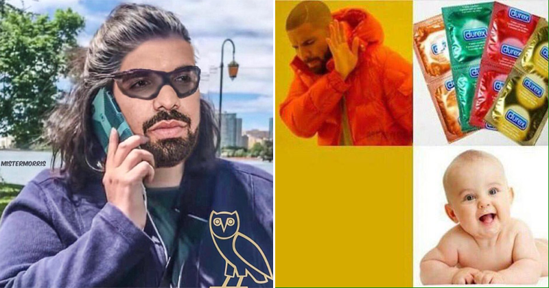 Funny memes about Pusha T and Drake, drake baby, drake has a baby, sophie brussaux, pusha t dis track.