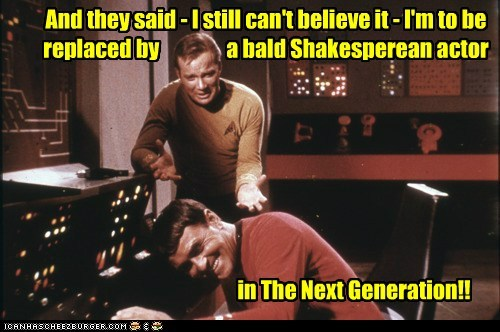 actor,bald,Captain Kirk,james doohan,replaced,scotty,shakespeare,Shatnerday,Star Trek,the next generation,William Shatner