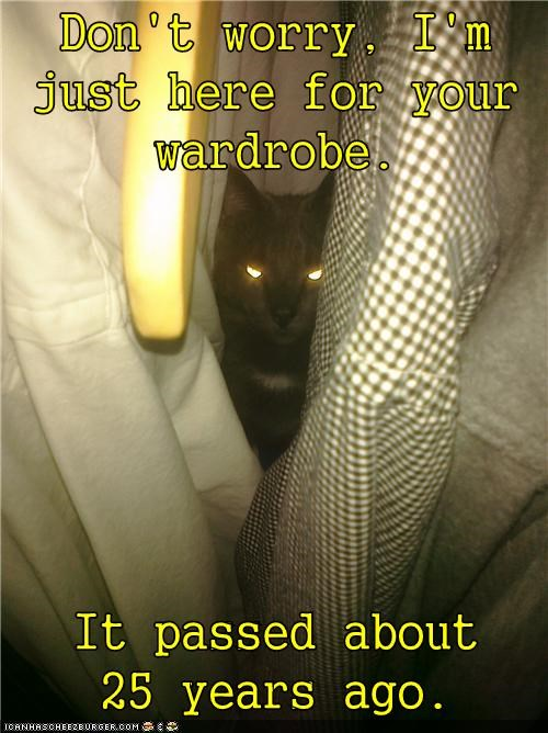 basement cat,caption,captioned,cat,dead,dont worry,here,outdated,passed,style,wardrobe