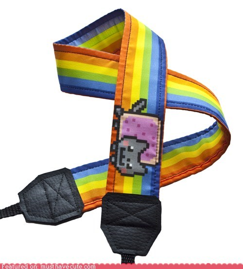camera,cat,Nyan Cat,pot tart,rainbow,strap