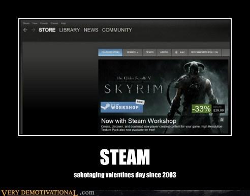 hilarious Skyrim steam Valentines day video games - 5804940288