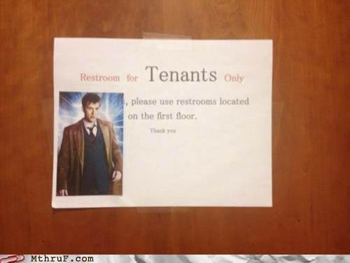 bathroom humor David Tenant doctor who Matt Smith restrooms - 5805213440