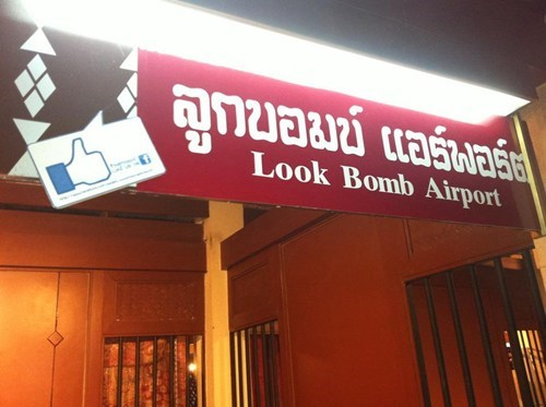 airport bomb bombs facebook like sign