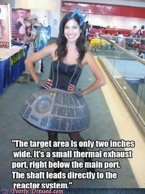 convention,Death Star,dress,joke,star wars,vag joke