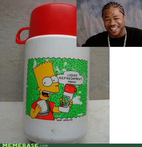 bart simpsons dont-have-a-cow-milk recursion thermos yo dawg - 5805779712