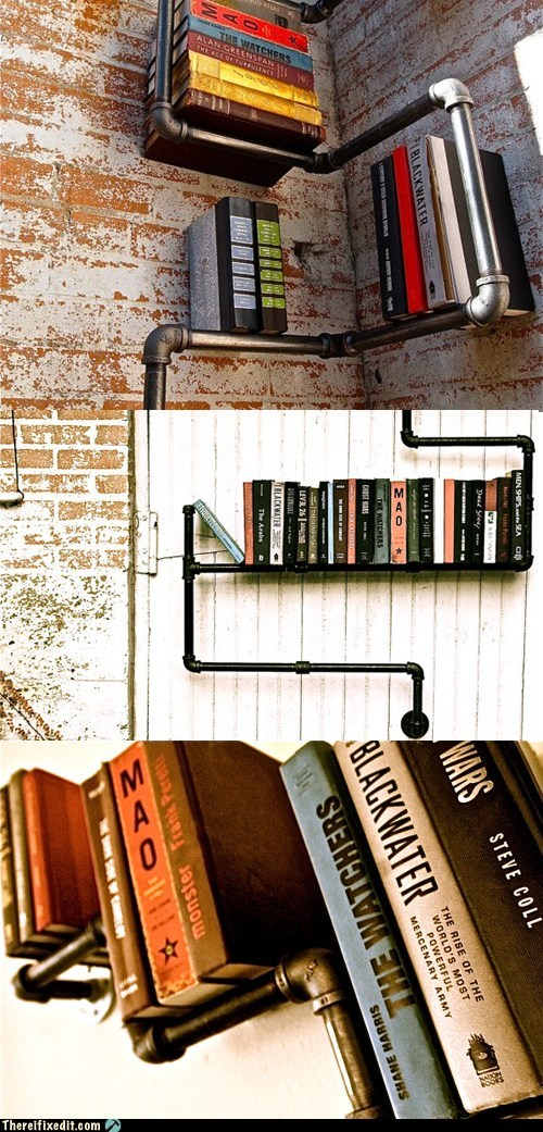 book shelf,neat,not a kludge