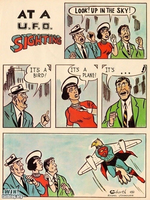 hell,plane,sighting,Straight off the Page,superman,ufo
