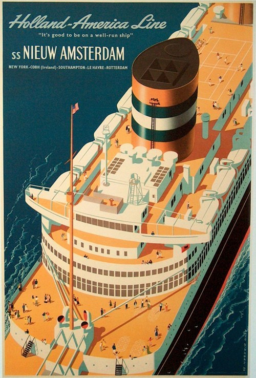 cruise ship getaways holland-america line retro travel Travel vintage travel - 5805830912