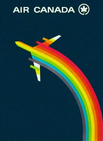 air canada,Canada,getaways,north america,rainbow,retro travel,vintage travel