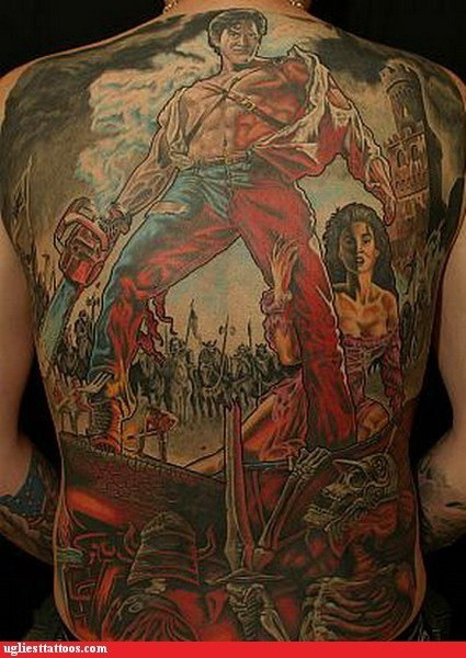 bruce campbell evil dead g rated Hall of Fame Movie nerdgasm tattoo WIN Ugliest Tattoos