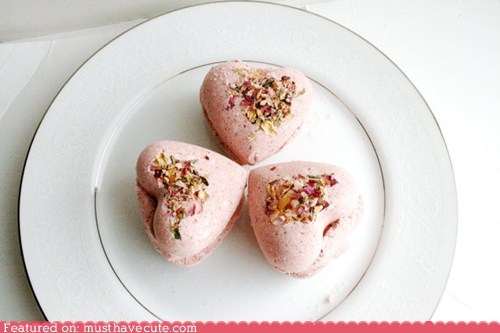 bath bath bombs floral heart pink toiletries Valentines day - 5806093312