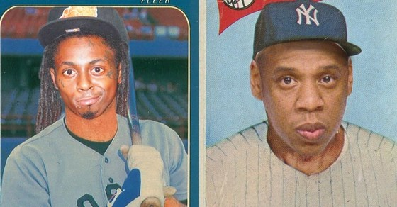 rappers on baseball cards
