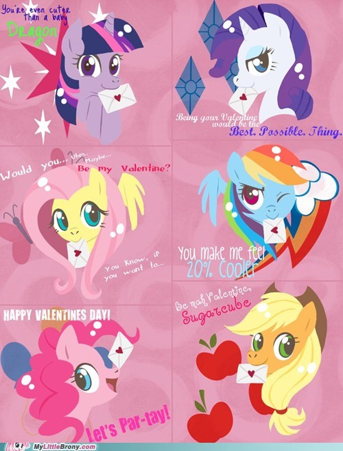 art be mine best of week cute mane six Valentines day - 5806167552