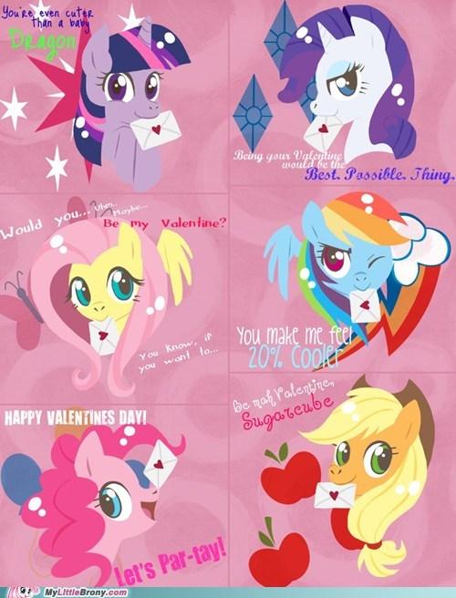 art be mine best of week cute mane six Valentines day - 5806167552